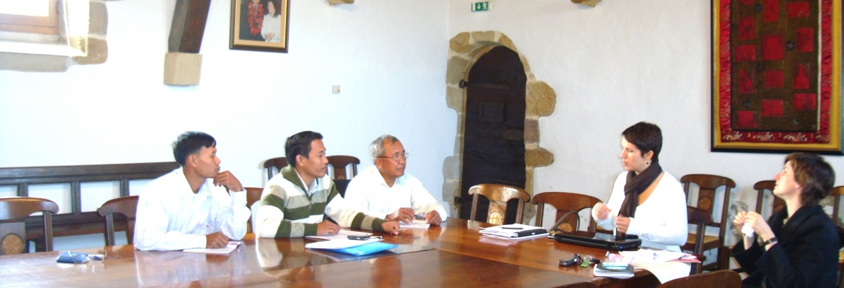 Meeting of KPPA with commune council at Espelette, Aquitaine