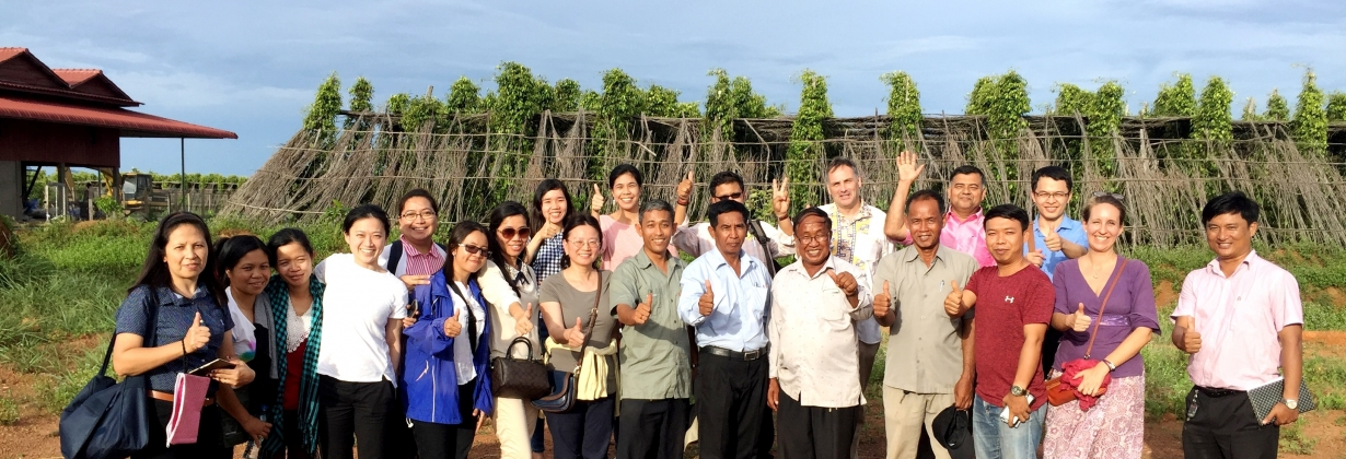 Study visit of Asia GI training participants in Kampot pepper plantation in 2017