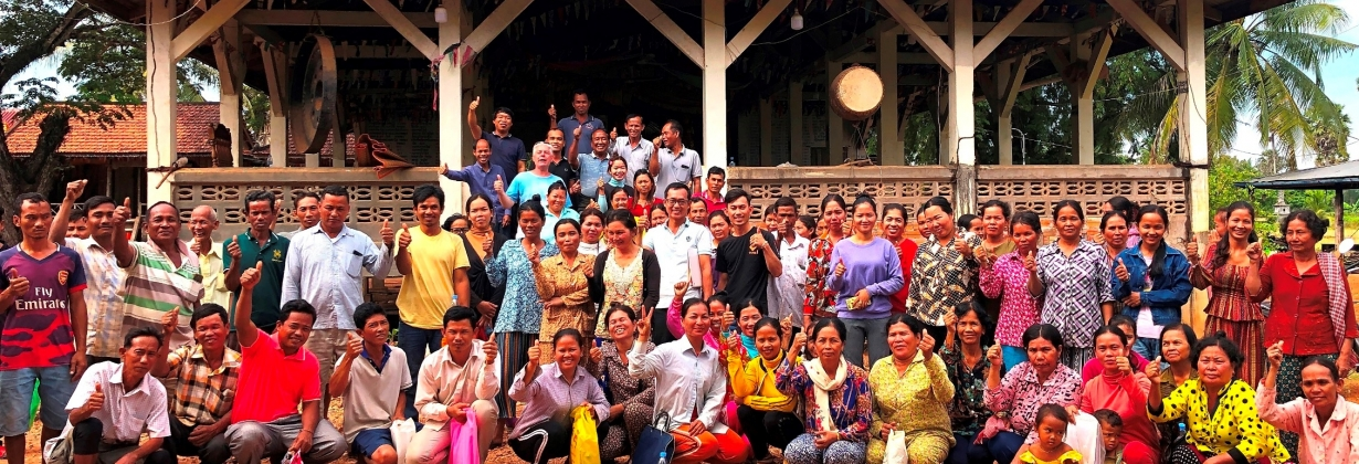 Meeting of small scale Kampot pepper farmers at village level